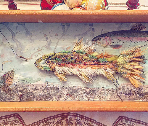 Rainbow Trout Art Piece | Kyle_Chanitz_Fly_Tying