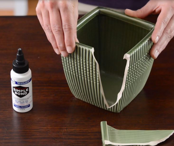 Use Simple Bond All Purpose Adhesive to Repair Ceramic Pots And Mugs