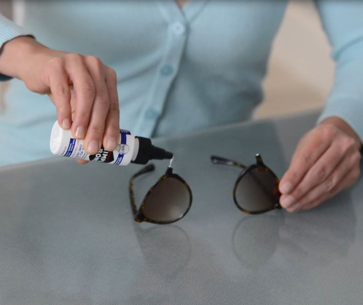 Don't Throw Broken Sun Glasses Away.  Use Simple Bond To Repair Eye Glasses