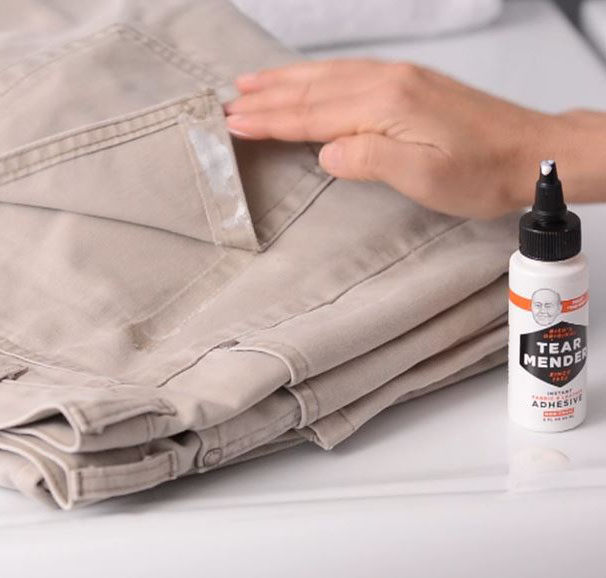 Tear Mender Permanently Repairs Torn Pant Pockets Without Needle And Thread